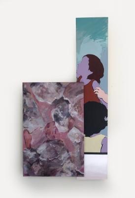 Kids, Acrylic, wood, canvas (42x22) 2018