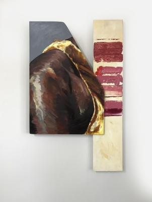 Shoulder, Acrylic, wood, canvas (42x25) 2018