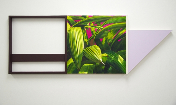 """3"", Oil, wood, drywall, 23x64x3, 2016"